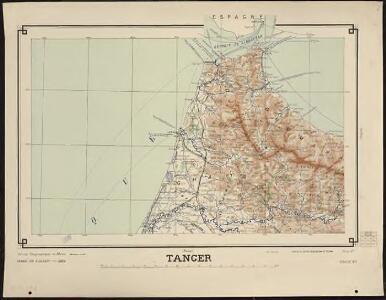 Carte générale du Maroc à l'échelle de 1 : 500 000 e. Tanger