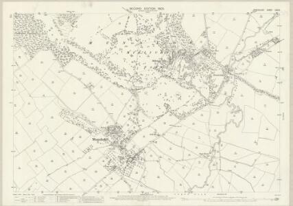 Shropshire LXIV.8 (includes: Diddlebury; Eaton Under Haywood; Munslow; Tugford) - 25 Inch Map