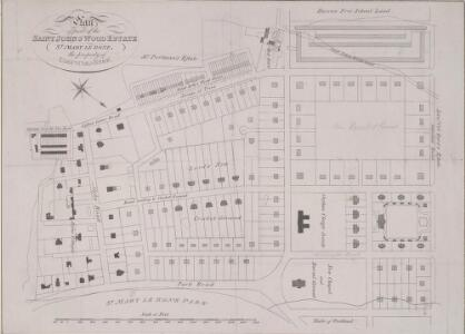 Plan of part of the ST. JOHN'S WOOD ESTATE ST. MARY LE BONE the property of LIEU.T COL.L EYRE.