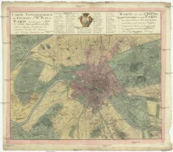 Carte topographique des environs & du plan de Paris