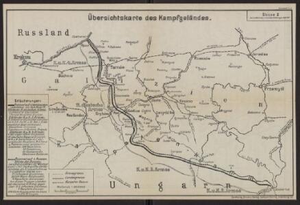 Übersichtskarte des Kampfgeländes