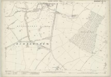Northamptonshire LIX.16 (includes: Biddlesden; Shalstone; Syresham; Whitfield) - 25 Inch Map