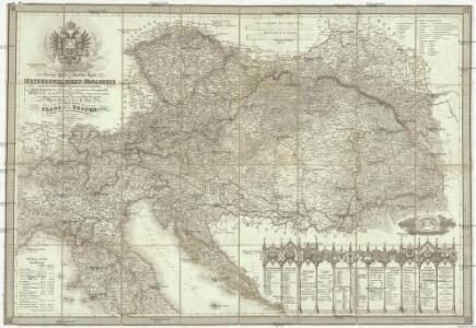 Neueste General- Post- und Straßen Karte der Oesterreichischen Monarchie