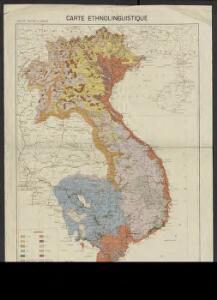 Carte de l'Indochine au 2.000.000e : Carte ethnolinguistique