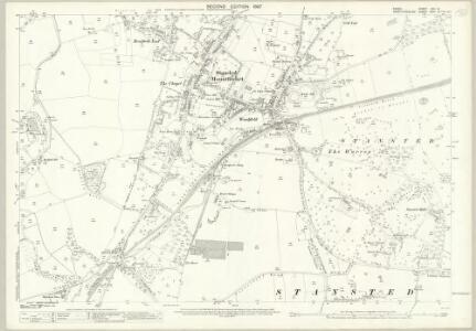 Essex (1st Ed/Rev 1862-96) XXII.8 (includes: Birchanger; Stanstead Mountfitchet) - 25 Inch Map