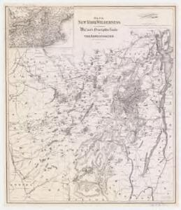 Map of the New York wilderness : to accompany Wallace's Descriptive guide to the Adirondacks