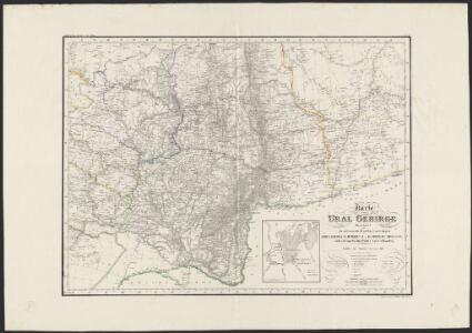 Karte vom Ural Gebirge, gegründet auf die astronomischen Beobachtungen von Wischnewsky, Schubert, A. v. Humboldt, Ad. Erman, und auf handschriftliche Specialkarten