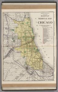Railway Terminal Map of Chicago.