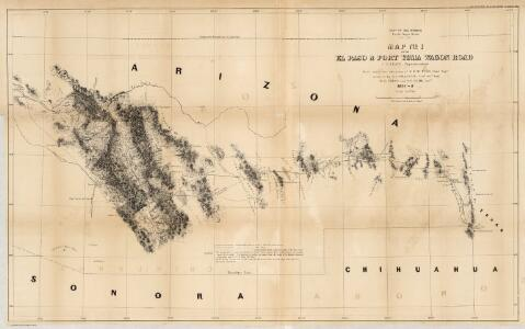 Map No. 1 of the El Paso & Fort Yuma Wagon Road.
