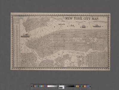 New York City map. Including an index to the streets of New York and Brooklyn.