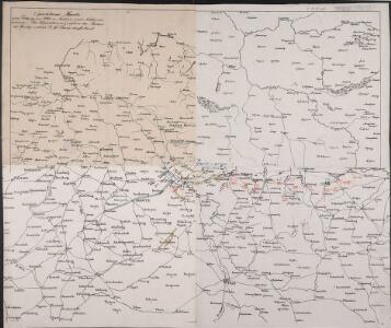Operations-Karte, zum Feldzuge in Sachsen und Schlesien gehoerig