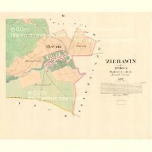 Zierawin - m3653-1-002 - Kaiserpflichtexemplar der Landkarten des stabilen Katasters