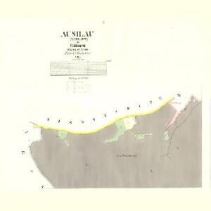 Ausilau (Auslow) - c8266-1-001 - Kaiserpflichtexemplar der Landkarten des stabilen Katasters