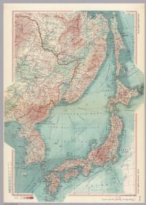 U.S.S.R. - Far East, Korea, Japan.  Pergamon World Atlas.