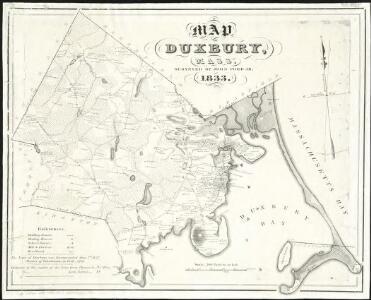 Map of Duxbury, Mass