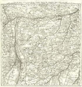 Monstrat mediam Partem Ducat: Bavariæ, Urbem Jmp: Augustam Vindelicorum, cum Parte Ducat Neoburg, et Episc. Frising