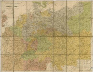 Post und Eisenbahn Reisekarte von Central Europa