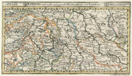 Leipzig mitt nahe anliegenden Fürstenthum und Laendern.