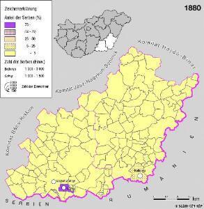 Serben in der Südlichen Tiefebene 1880