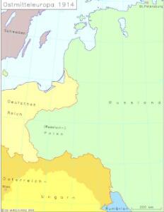 Ostmitteleuropa 1914