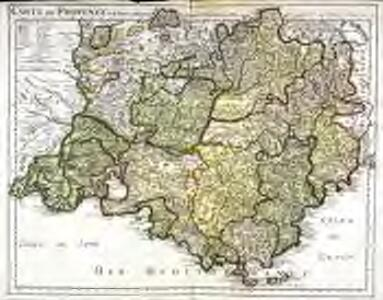 Carte de Provence et des terres adjacentes