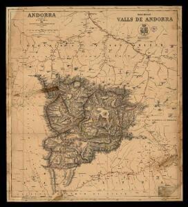Mapa de las Valls de Andorra = Andorra / constructed by F.H. Deverell