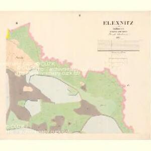 Elexnitz - c5449-1-002 - Kaiserpflichtexemplar der Landkarten des stabilen Katasters