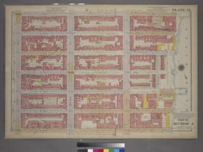 Plate 34, Part of Section 5: [Bounded by E. 53rd Street, First Avenue, E. 47th Street and Third Avenue.]