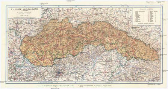 A felvidék közigazgatási térképe