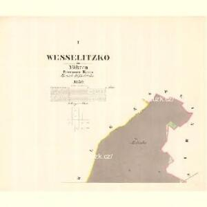 Wesselitzko - m3364-1-001 - Kaiserpflichtexemplar der Landkarten des stabilen Katasters