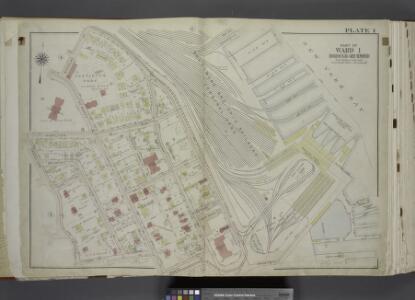 Part of Ward 1. [Map bound by Richmond Terrace (Bay   St), Pierhead Line, Hyatt St, St. Marks PL (Tompkins Ave), Fort PL, Daniel Low   Terrace, Hamilton Ave, Nicholas St]