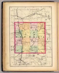 (Map of Mecosta County, Michigan)