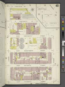 Manhattan, V. 2, Plate No. 40 [Map bounded by E. 20th St., Avenue C, E. 15th St., Avenue B]