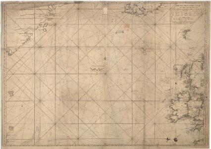 Museumskart 15 Nieuwe Wassende kaart van een Gedeelte der Noorder Atlantische Oceaan