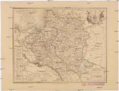 Carte routiere, historique et statistique des états de l'ancienne Pologne indiquantses limites avant sen premiér démembrement er 1772 et son état actuel depuis son dernier partage en 1815