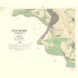 Neudorf (Nowawes) - m2055-1-004 - Kaiserpflichtexemplar der Landkarten des stabilen Katasters