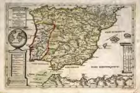 Hispaniæ et Lvsitaniæ regna. quorum potentia in orientem et occidentem longius est extensa