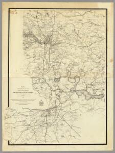 Region embraced in the Operations of the Armies against Richmond and Petersburg.