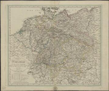 Kharte von Deutschland nach der neuesten Eintheilung, zufolge der Bestimmung des Wiener Congresses und des Pariser Frieden von 1815 entworfen