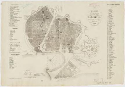 Plano de la ciudad de Barcelona