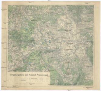 Umgebungskarte der Kurstadt Franzensbad