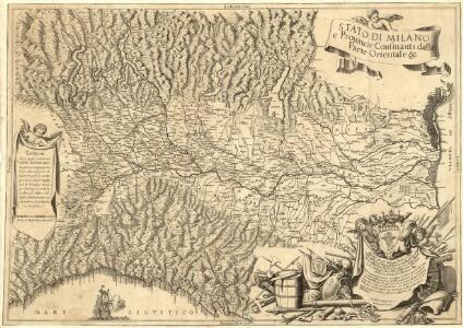 Stato di Milano e Prouincie Consinanti dalla Parte Orientale &c.