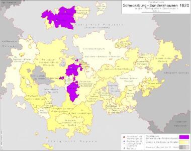 Fürstentum Schwarzburg-Sondershausen 1820 in der thüringischen Staatenwelt