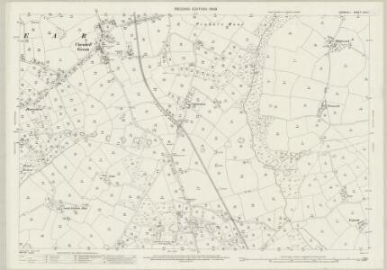 Cornwall LXIX.4 (includes: Crowan; Gwinear Gwithian) - 25 Inch Map