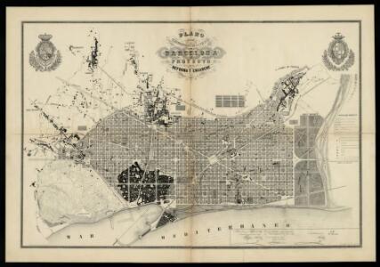 Plano de los alrededores de la ciudad de Barcelona y proyecto de su reforma y ensanche / el ingeniero de caminos, canales y puertos Ildefonso Cerdà ; Pedro Roca fecit (abril de 1861)