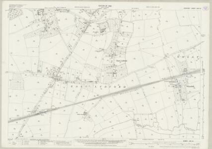 Somerset LXIV.10 (includes: Babcary; Lovington; Lydford) - 25 Inch Map