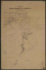 Carte des forages artésiens de la province de Constantine (Subdivision de Batna)