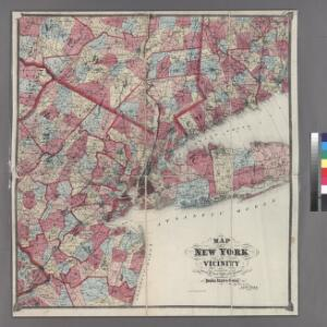 Plate 5: Map of New York and vicinity, accompanying Atlas of New York and vicinity.
