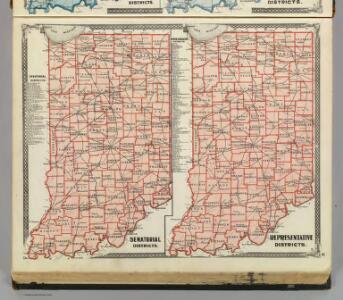 Senatorial districts. Representative districts (Indiana)
