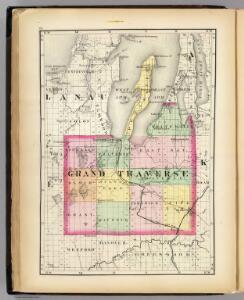 (Map of Grand Traverse County, Michigan)